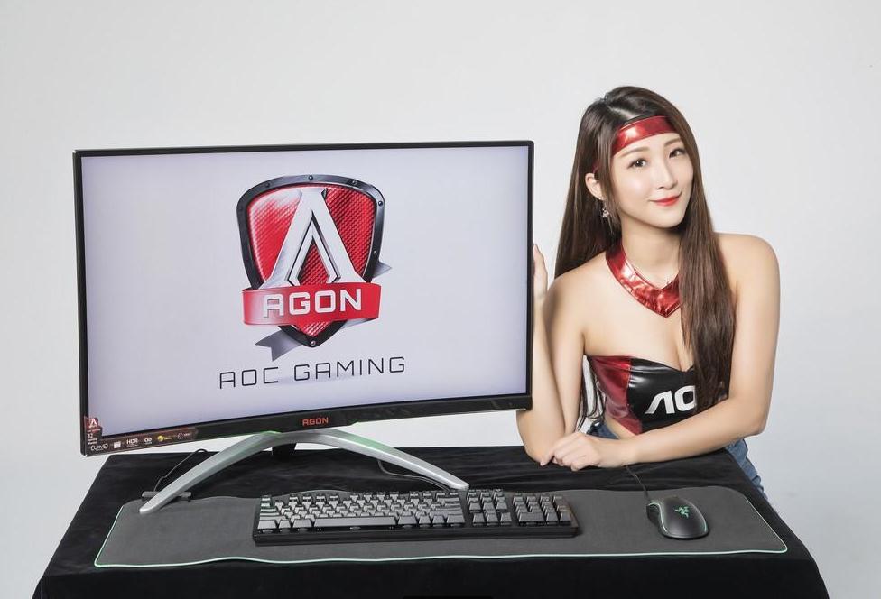 AOC AGON 32英寸曲面电竞显示器高清美图大全