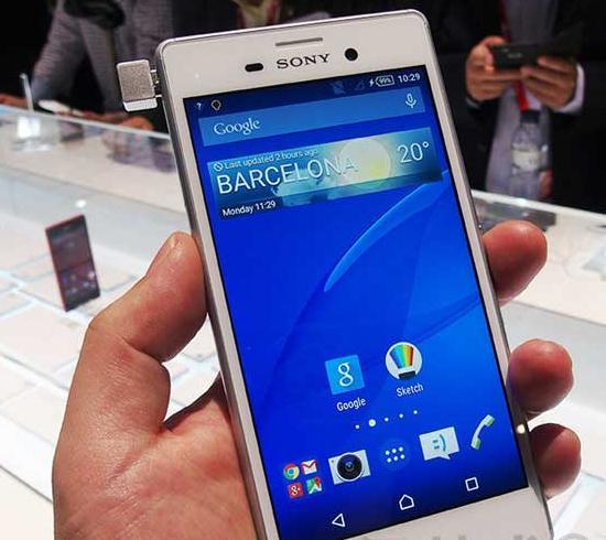 索尼智能手机xperia m4 aqua 高清图片