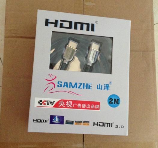 山泽SM-5520豪华镀金HDMI2.0数字高清线使用测评
