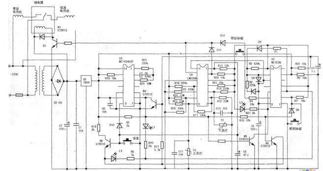美的多功能自动电饭煲CFXB50-32常见故障维修