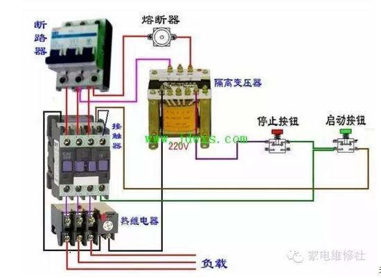 交流接触器接线图和接线方式