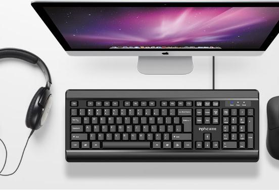 英菲克键盘V580 游戏轻薄膜防水静音 券后11.9元