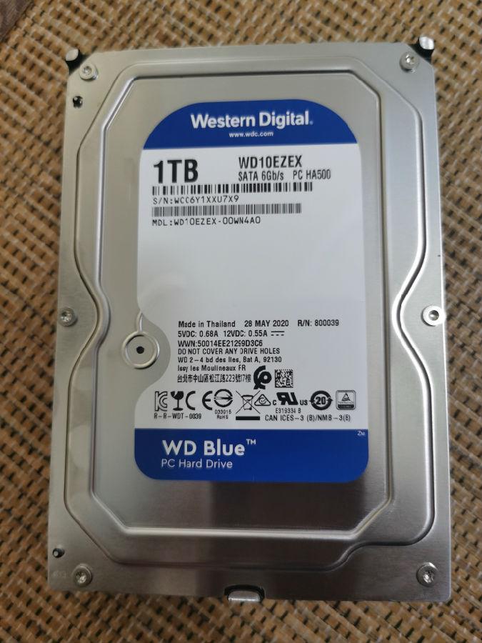 西部数据机械硬盘1TB SATA3使用评测