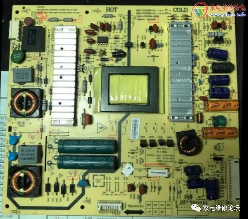 创维液晶电视机三无故障维修方法(32E600Y)